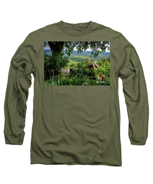 A View From Groznjan Of The Istrian Hill Town Countryside, Istria, Croatia Long Sleeve T-Shirt