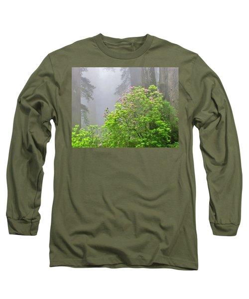 A Walk Alone Long Sleeve T-Shirt by Marilyn Diaz