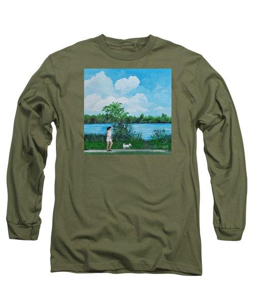 A Walk Along The River Long Sleeve T-Shirt