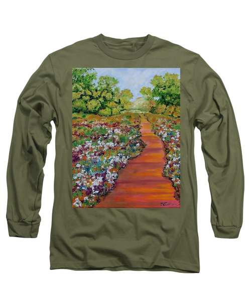 A Walk In The Park Long Sleeve T-Shirt by Mike Caitham