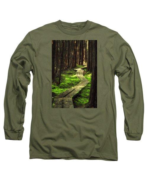 Long Sleeve T-Shirt featuring the photograph A Walk Through The Bog by Robert Clifford