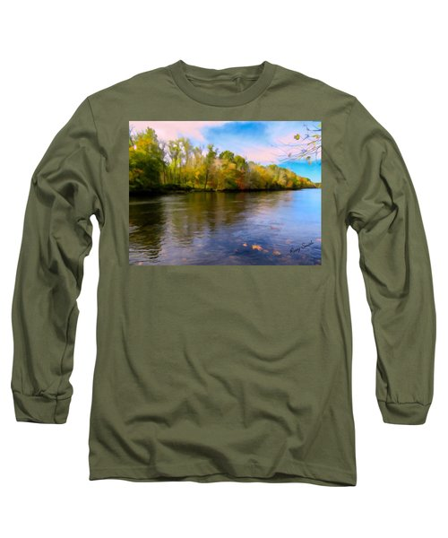 A Wide Scenic View Of Shetucket River. Long Sleeve T-Shirt