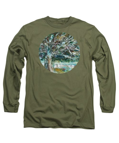 A Winter Tree Long Sleeve T-Shirt by Mary Wolf