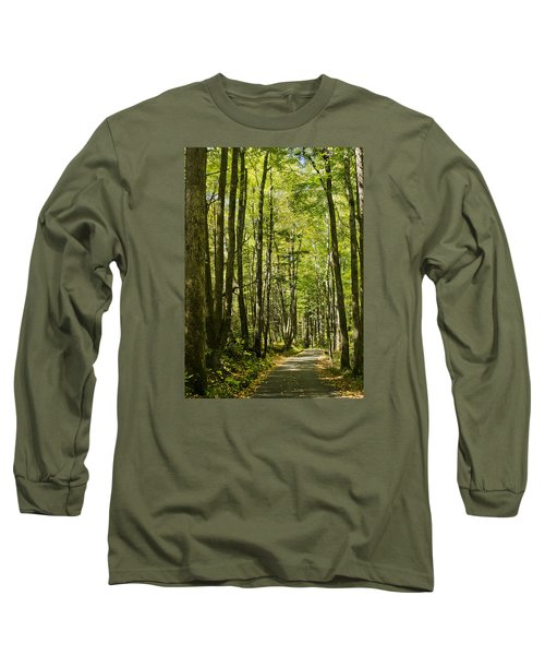 Long Sleeve T-Shirt featuring the photograph A Woodsy Trail by Wanda Krack
