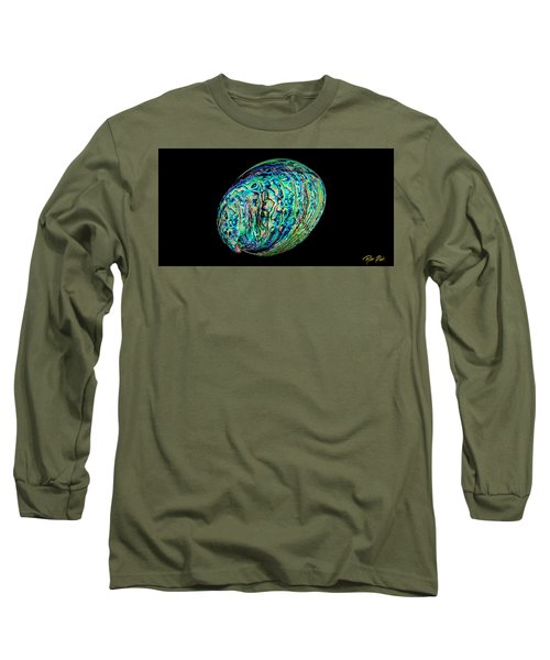 Abalone On Black Long Sleeve T-Shirt