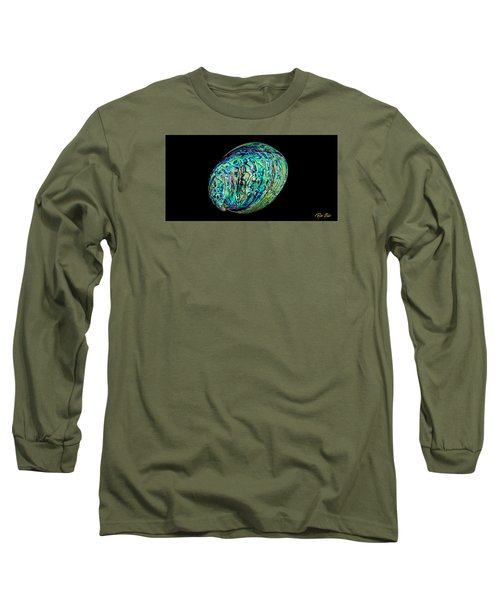 Abalone On Black Long Sleeve T-Shirt