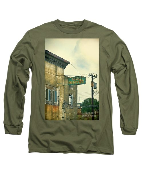 Long Sleeve T-Shirt featuring the photograph Abandoned Building by Jill Battaglia