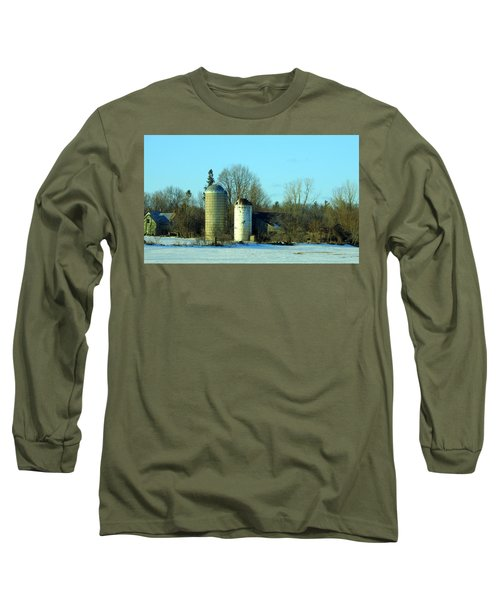 Abandoned Farm Long Sleeve T-Shirt by Betty-Anne McDonald