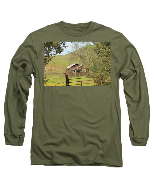 Long Sleeve T-Shirt featuring the photograph Abandoned Homestead by Art Block Collections