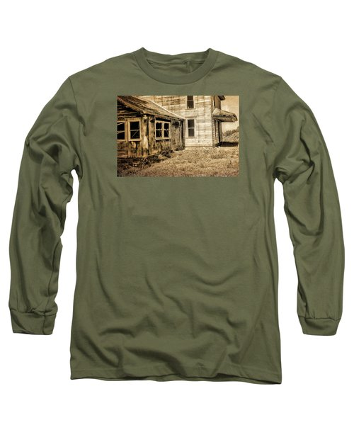 Abandoned House 2 Long Sleeve T-Shirt by Bonnie Bruno
