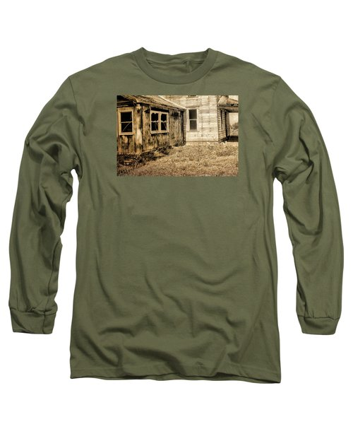 Abandoned House 3 Long Sleeve T-Shirt by Bonnie Bruno