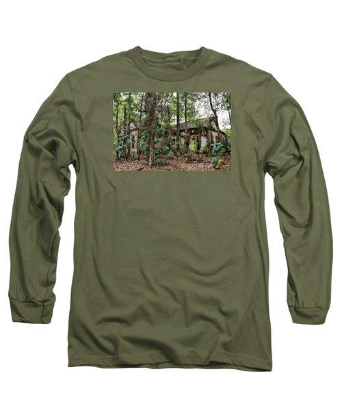 Abandoned House In Alabama Long Sleeve T-Shirt by Lynn Jordan