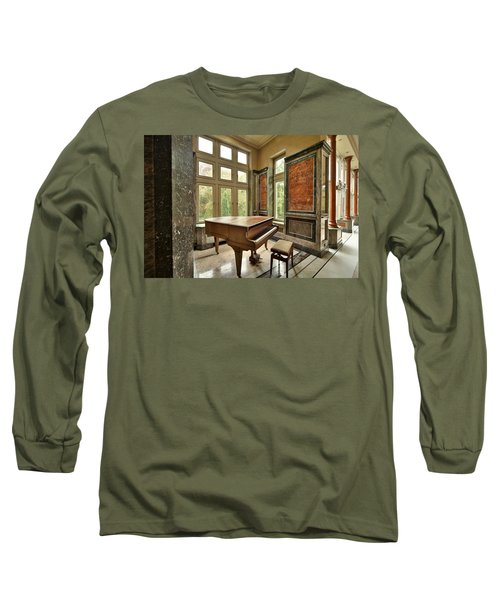 Long Sleeve T-Shirt featuring the photograph Abandoned Piano - Urban Exploration by Dirk Ercken