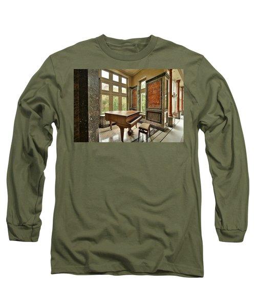 Abandoned Piano - Urban Exploration Long Sleeve T-Shirt