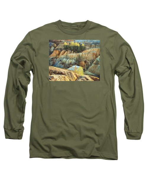 Long Sleeve T-Shirt featuring the photograph Abandoned Quarry 2 by Vladimir Kholostykh