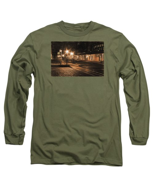 Abandoned Street Long Sleeve T-Shirt by Michael Cleere