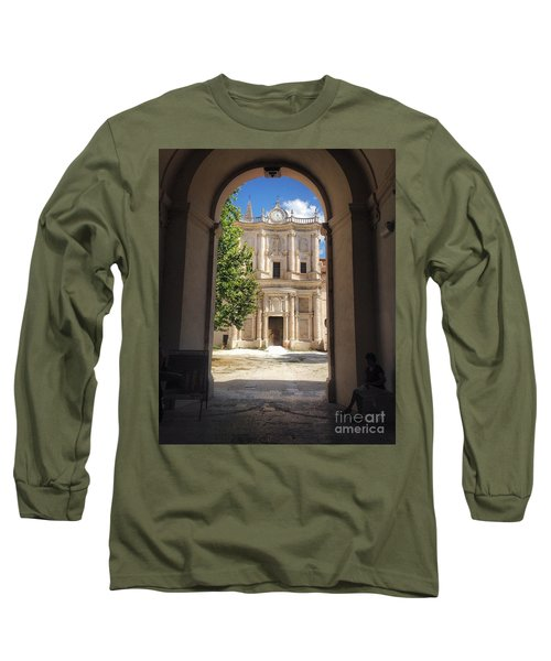 Abbey Of The Holy Spirit At Morrone In Sulmona, Italy Long Sleeve T-Shirt