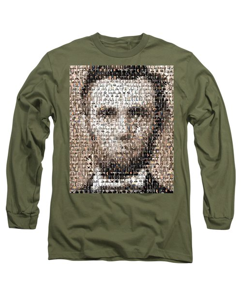 Abe Lincoln Presidents Mosaic Long Sleeve T-Shirt