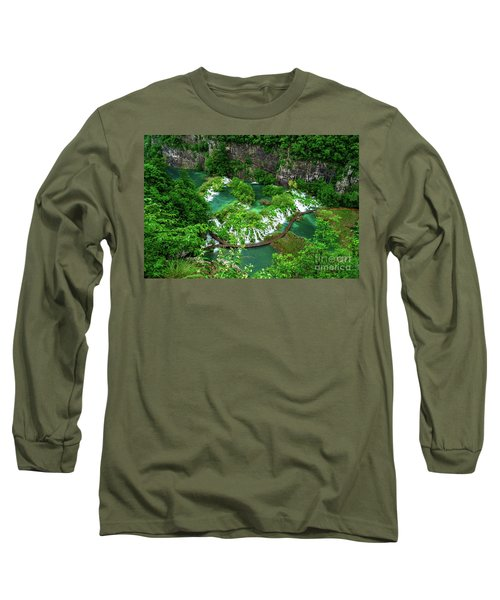 Above The Paths And Waterfalls At Plitvice Lakes National Park, Croatia Long Sleeve T-Shirt