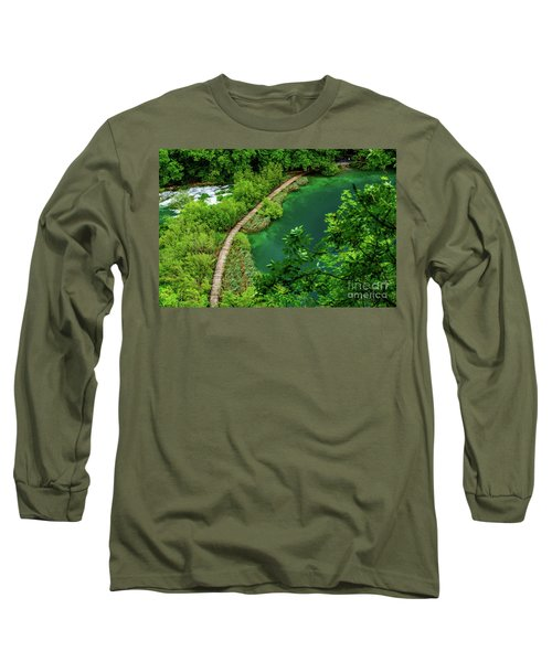 Above The Paths At Plitvice Lakes National Park, Croatia Long Sleeve T-Shirt