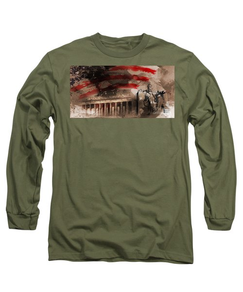 Long Sleeve T-Shirt featuring the painting Abraham Lincoln by Gull G