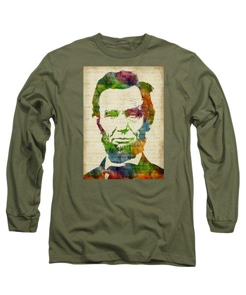 Abraham Lincoln Watercolor Long Sleeve T-Shirt