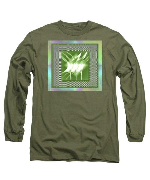 Abstract 54 Long Sleeve T-Shirt by Iris Gelbart