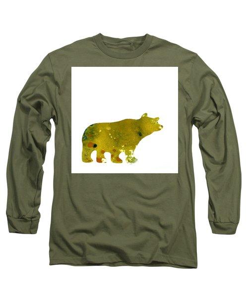 Abstract Acrylic Painting Bear II Long Sleeve T-Shirt by Saribelle Rodriguez