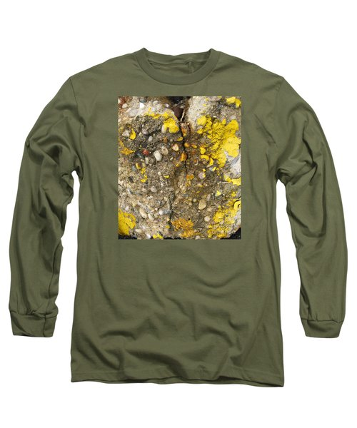 Abstract Art Seen In Parking Lot Long Sleeve T-Shirt by Sandra Church