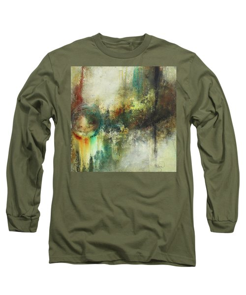 Abstract Art With Blue Green And Warm Tones Long Sleeve T-Shirt