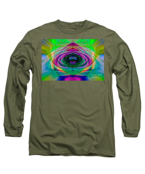 Abstract Catherine Wheel Long Sleeve T-Shirt