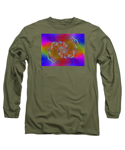 Long Sleeve T-Shirt featuring the digital art Abstract Cubed 351 by Tim Allen