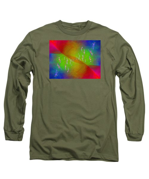Long Sleeve T-Shirt featuring the digital art Abstract Cubed 355 by Tim Allen