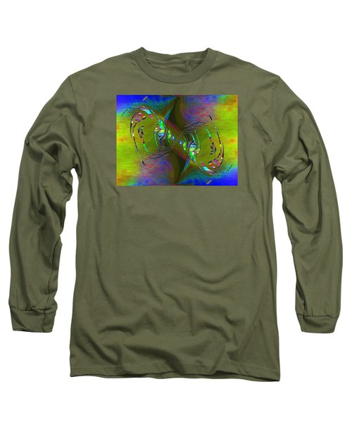 Long Sleeve T-Shirt featuring the digital art Abstract Cubed 361 by Tim Allen