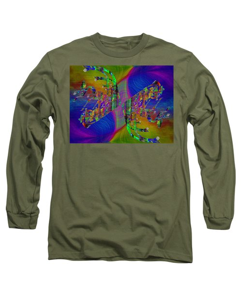 Long Sleeve T-Shirt featuring the digital art Abstract Cubed 368 by Tim Allen