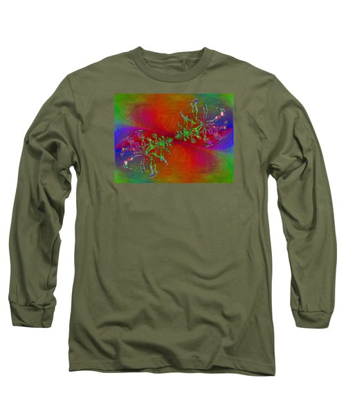 Long Sleeve T-Shirt featuring the digital art Abstract Cubed 371 by Tim Allen