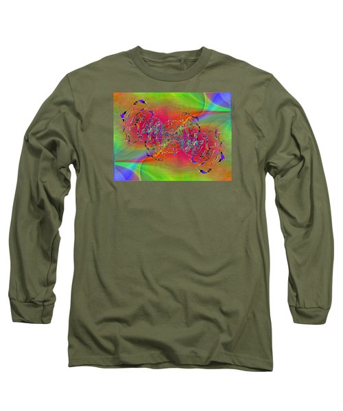 Long Sleeve T-Shirt featuring the digital art Abstract Cubed 382 by Tim Allen
