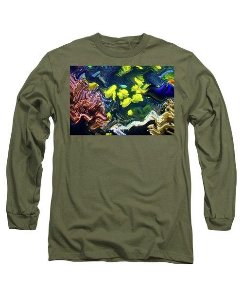 Abstract Dancing Colorful Ish Long Sleeve T-Shirt