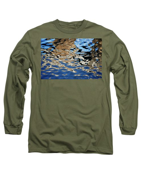 Abstract Dock Reflections I Color Long Sleeve T-Shirt