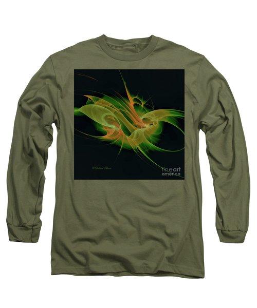 Long Sleeve T-Shirt featuring the digital art Abstract Ffz by Deborah Benoit
