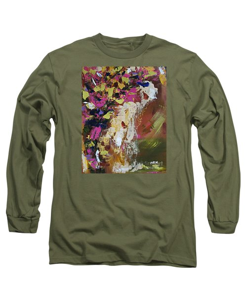 Abstract Floral Study Long Sleeve T-Shirt