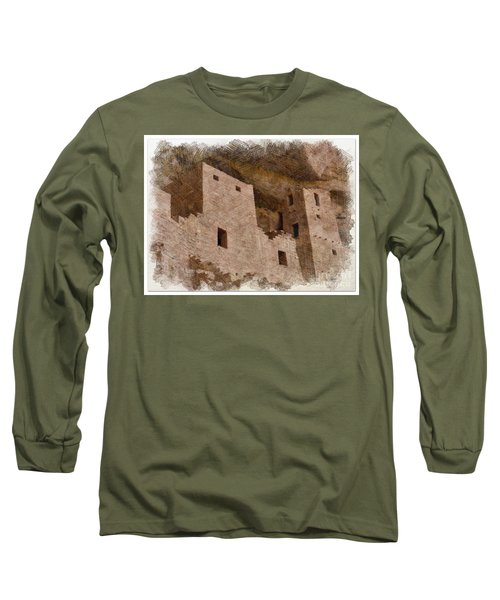 Long Sleeve T-Shirt featuring the photograph Abstract Mesa Verde by Debby Pueschel