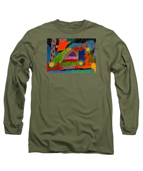 Abstract No. 7 Inner Landscape Long Sleeve T-Shirt