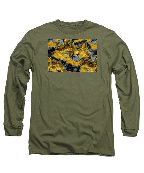Abstract Pattern 4 Long Sleeve T-Shirt by Jean Bernard Roussilhe