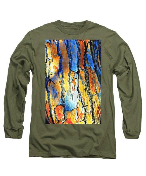 Abstract Saturated Tree Bark Long Sleeve T-Shirt
