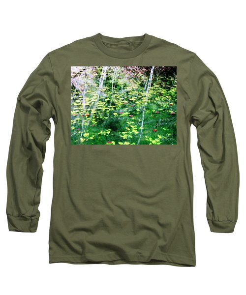 Abstract Water Long Sleeve T-Shirt by Melissa Stoudt