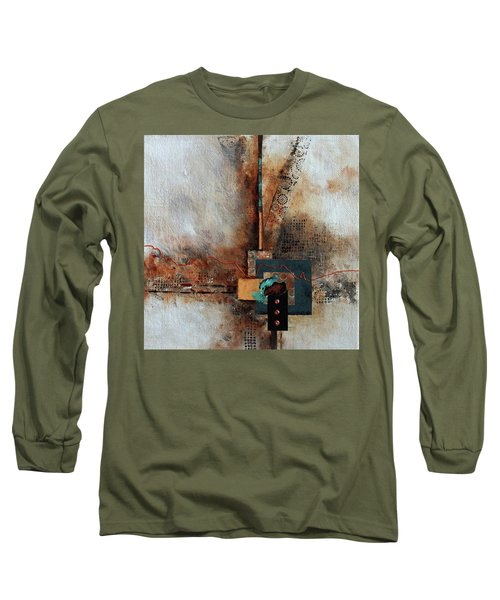 Long Sleeve T-Shirt featuring the painting Abstract With Stud Edge by Joanne Smoley