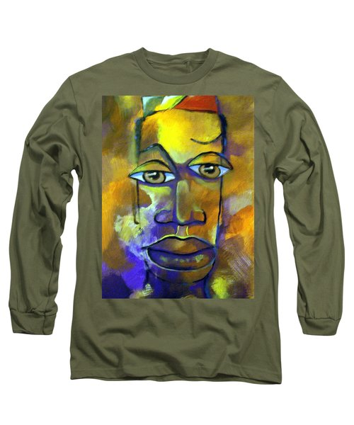 Long Sleeve T-Shirt featuring the painting Abstract Young Man by Raymond Doward