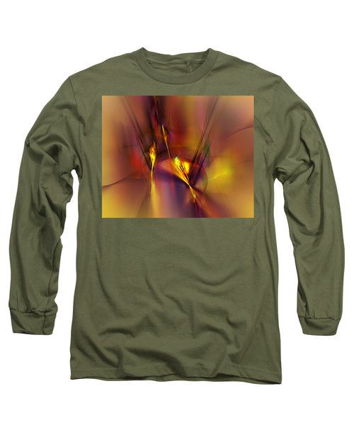 Abstracts Gold And Red 060512 Long Sleeve T-Shirt