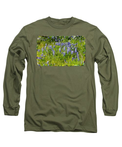 Abundance Of Blue Bonnets Long Sleeve T-Shirt by Linda Phelps